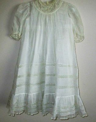 Long White Antique Baby/Doll Christening Gown and Slip