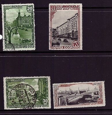 Russia Soviet Union USSR 1947 series stamps ( 800th Anniversary of Moscow) Used