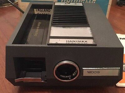 Vintage Hanimex Rondette 1200S 35mm Slide Projector, Fully Working & Boxed