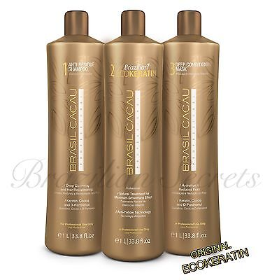 Brasil Cacau Eco Brazilian Keratin Treatment Blow Dry Hair Straightening Cadiveu
