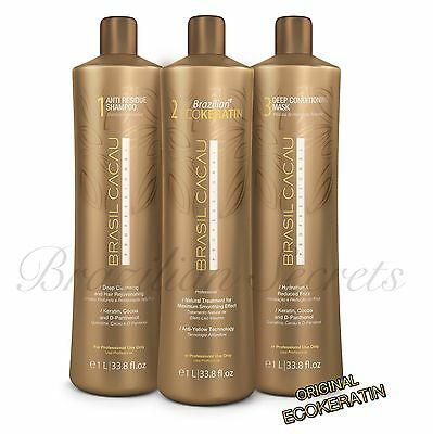 Cadiveu Brasil Cacau Eco Brazilian Keratin Treatment Blow Dry Hair Straightening
