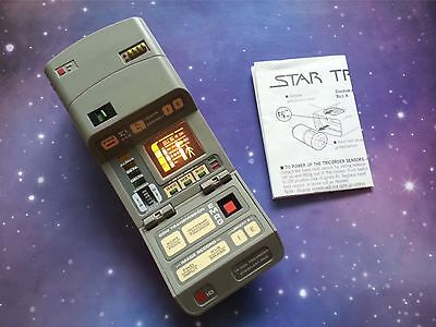 Star Trek Starfleet Medical Tricorder Electronic Playmates Toy Prop Instructions