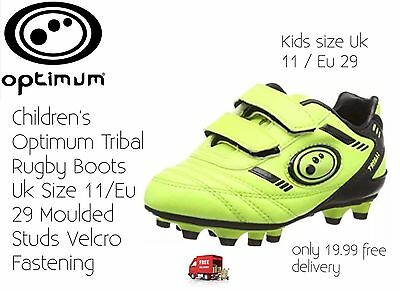 Children's Rugby Boots Optimum Tribal Size Uk11 New