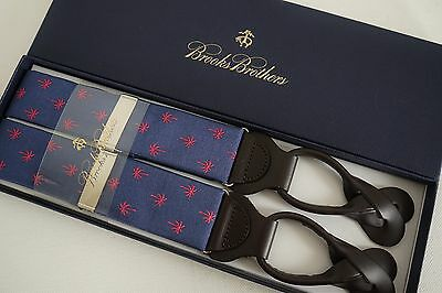 Authentic BROOKS BROTHERS Blue Pink Suspenders Braces