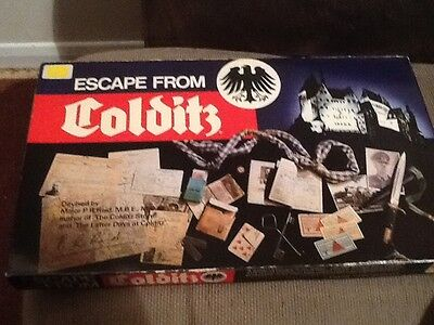 Vintage Escape From Colditz Board Game By Gibson Games 100% Complete