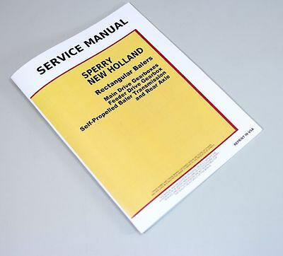 Sperry New Holland Square Baler Service Manual 65 67 68 69 78 S 78 99 178 268