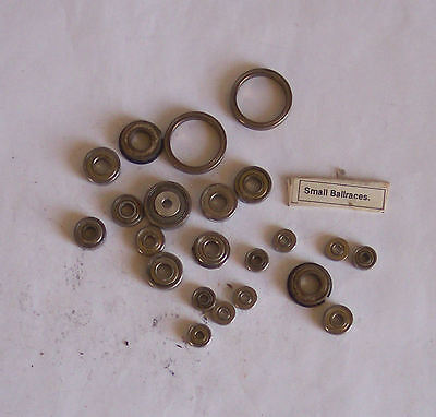 Gauge O – 7mm – Spare Bits - Ball Races c20 variety sizes - useful - see pics C