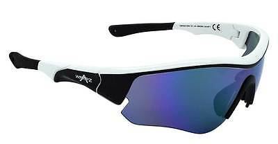 Wrapz SWIFT Cricket Sunglasses WHITE with Revo Mirror Lens