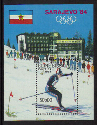 Guinea-Bissau #536 Mint Never Hinged S/Sheet - 1984 Winter Olympics - Skiing