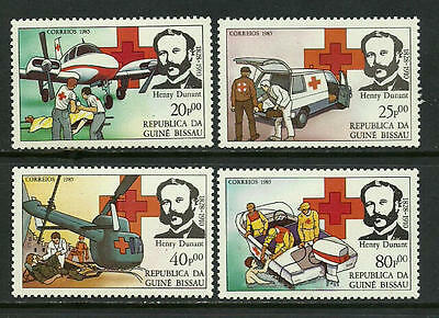 Guinea-Bissau #643-6 Mint Never Hinged Set - Red Cross