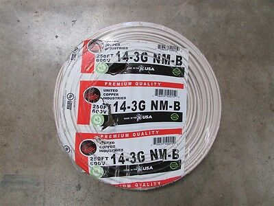 250' Roll 14-3 w/ Ground NM-B Indoor Electrical Wire