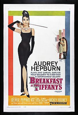 BREAKFAST AT TIFFANY'S * AUDREY HEPBURN CineMasterpieces MOVIE POSTER TIFFANYS