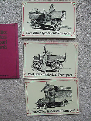 Post Office Historial Transport Postcards---Set4---Wallet And 3 Cards