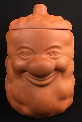 Large Retro Terracotta Mr Potato Head Face Storage Canister Pot Jar & Lid Bottle