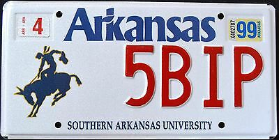"ARKANSAS "" SOUTHERN AR UNIVERSITY - BRONCO COWBOY HORSE AR Graphic License Plate"