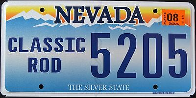 """NEVADA """" CLASSIC ROD - CAR - SILVER STATE """" NV Graphic License Plate"""