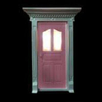 Light Pink Magical Glitter Fairy Door with Light Up Windows and Fairy Dust