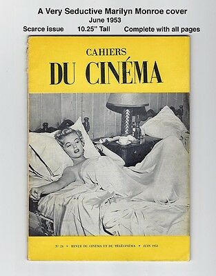 Du Cinema #24 1953 - Famous And Seductive Marilyn Monroe Cover! - Very Scarce