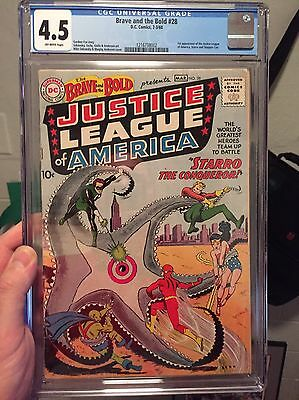 Brave & the Bold #28/CGC 4.5 OW/1st Justice League of America