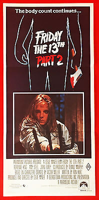 FRIDAY THE 13TH, PART 2 - Original 1981 Australian cinema daybill movie poster