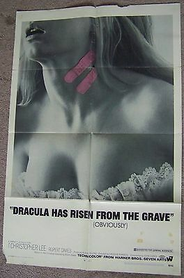 ORIGINAL 27x41-Dracula Has Risen From The Grave-Chris Lee-1969-Movie Poster