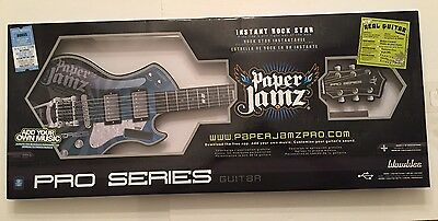 Paper Jamz Pro Series Guitar WowWee 2011 BLUE
