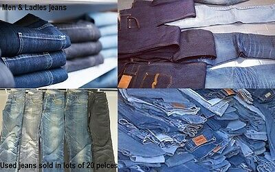 Job lot of men and ladies jeans, GRADE A,  All checked, clean and good to resell
