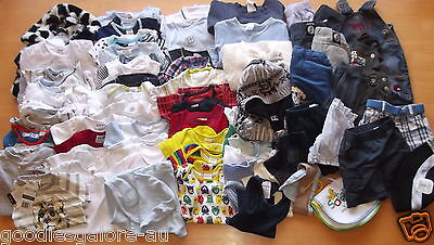 Baby Boy Bulk Clothes Size 000 Mambo Set Tops Bottoms Onesies Over 60 Items
