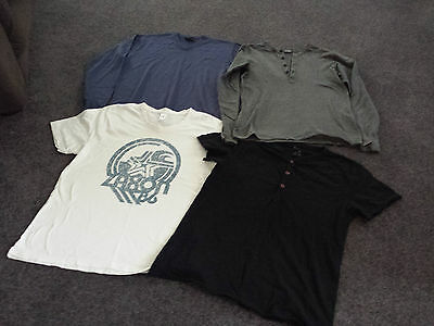 Men's Mossimo Jumper, Long Sleeve Top And 2 Tee Shirts Size M