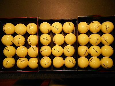 36 Wilson Duo Yellow 2016 Mint AAAAA No Logos No Pen Marks Used Golf Balls