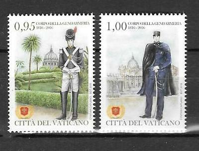 Vatican 2016 The Gendarmerie Corps of Vatican City 200 Years MNH SET