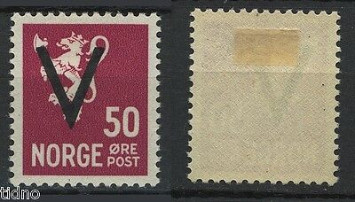 Norway 1941, NK 272 50ø V overprint with clear WM VF-XF MLH