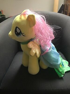 My Little Pony Rare Fluttershy  Build A Bear Large Plush With Beautiful Cape