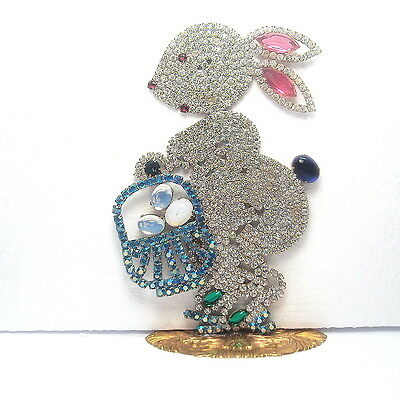 "Beautiful Czech  handmade Easter Rabbits decoration SIGNED ""TABOO"" R 048"