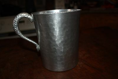 Vintage Hammered Aluminum Side Pitcher By Canterbury Arts