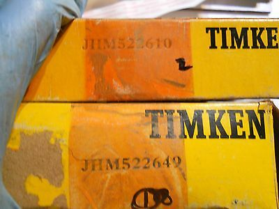 Timken JHM522649  Roller bearing cone WITH  JHM522610 Cup- In boxes