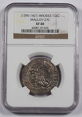 Greece 1396-1421 Gigliato Coin XF40 NGC Order of St. John at Rhodes Philibert