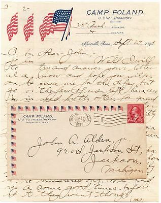 KNOXVILLE,TN SEP 27, 1898 _CAMP POLAND US VOL INF_GREAT 6-PG LETTER_ALGERISM,etc