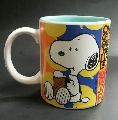 Peanuts Snoopy Great Joys of Life Junk food coffee mug cup by Gibson