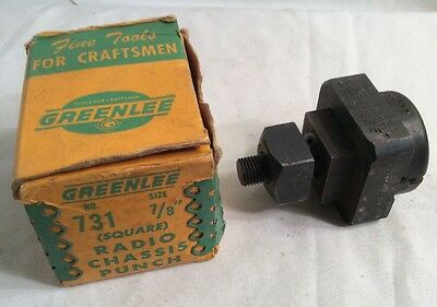 """Used Greenlee 731 Square Radio Chassis Punch 7/8""""  - 5005558"""