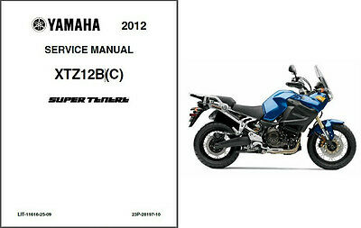 2012-2013 Yamaha Super Tenere 1200 ( XT1200Z ) Service Manual on a CD