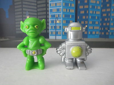 Plastic Spaceman Alein And Robot  Hong Kong Very Cool