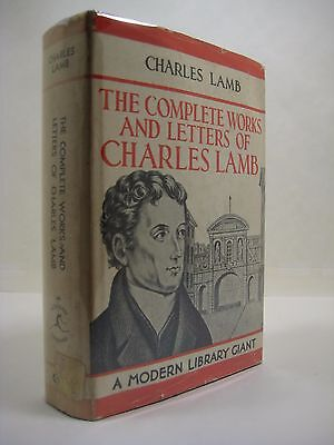 The Complete Works And Letters Of Charles Lamb (Hardcover) Modern Library