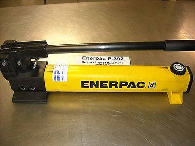 P-392, Enerpac Hand Pump, 2 Speed 10,000 PSI,  Completely Reconditioned