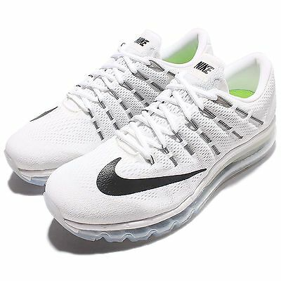 Nike Air Max 2016 White Black Mens Running Shoes Sneakers Trainers 806771-100