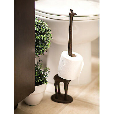 Toilet Paper Towel Holder Cast Iron Giraffe Vintage Home Decorative Kitchen