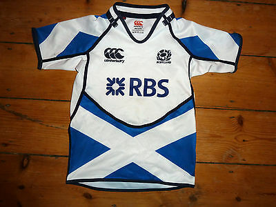 Scotland Rugby Shirt age 6 - 8 years Trikot Maroc Maillot Domicile   6 NATIONS