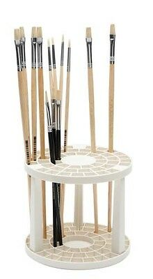 Economical Paint Brush Holder 49 Compartments Round Plastic Artist Collapsable
