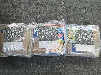 3 New First Strike Ration Menu#1-3 Rare EMERGENCY MEAL READY TO EAT UNOPENED MRE