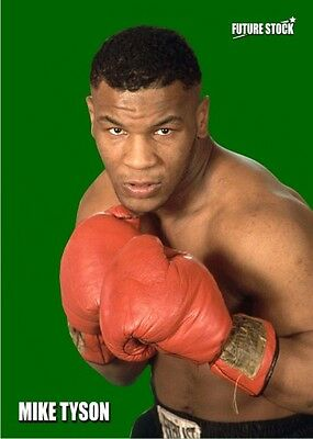 Mike Tyson Future Stock Boxing Card - Emerald Variation - Limited 6/7
